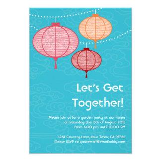 Invitaciones de la linterna de papel de la fiesta invitación personalizada