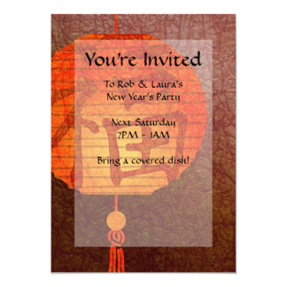 """Invitaciones de la linterna de papel invitación 5"""" x 7"""""""