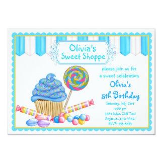 Invitaciones de la magdalena del caramelo invitación 11,4 x 15,8 cm
