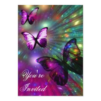 Invitaciones de la mariposa comunicado personalizado