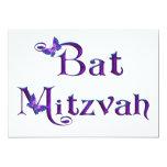 Invitaciones de la mariposa de Mitzvah del palo Invitación 12,7 X 17,8 Cm