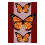 Invitaciones de la mariposa de monarca anuncios