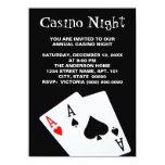 Invitaciones de la noche del casino invitacion personalizada