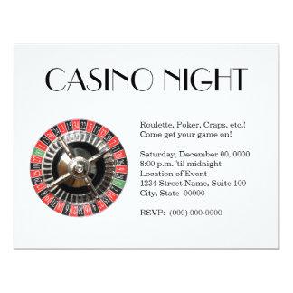 Invitaciones de la noche del casino invitaciones personalizada