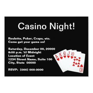 """Invitaciones de la noche del casino invitación 5"""" x 7"""""""