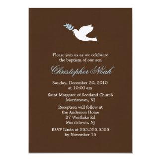 Invitaciones de la paloma del azul comunicados