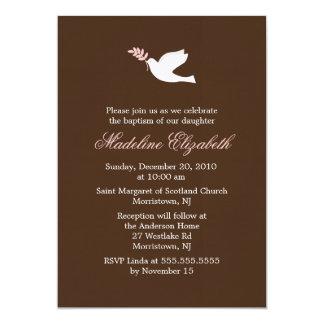 Invitaciones de la paloma del rosa invitaciones personalizada