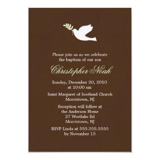 Invitaciones de la paloma del verde comunicado personal