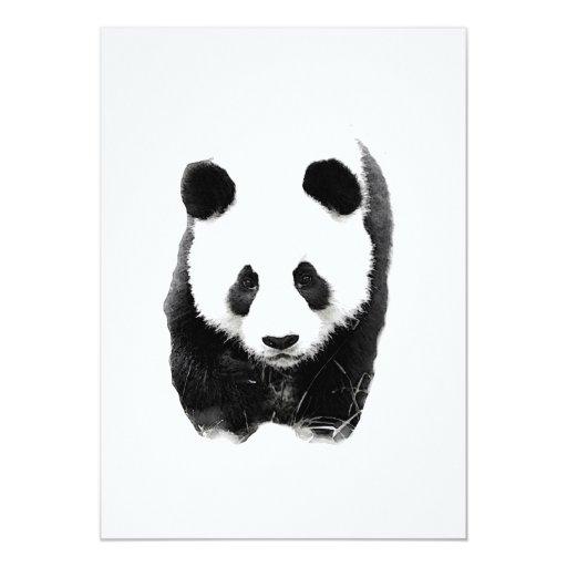 Invitaciones de la panda invitación 12,7 x 17,8 cm