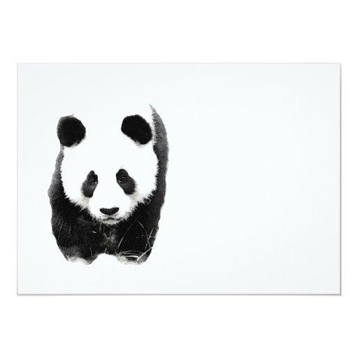 """Invitaciones de la panda invitación 5"""" x 7"""""""