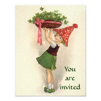 """Invitaciones de la parte del irlandés invitación 4.25"""" x 5.5"""""""