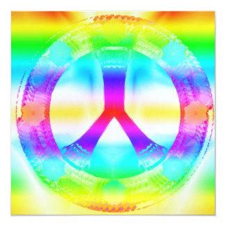 """Invitaciones de la Paz-Hacia fuera del Hippie Invitación 5.25"""" X 5.25"""""""