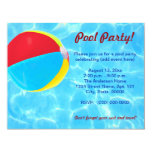 Invitaciones de la pelota de playa invitacion personalizada