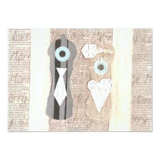 Invitaciones de la pimienta de Sr. y de señora Invitación 12,7 X 17,8 Cm