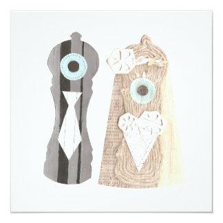 Invitaciones de la pimienta de Sr. y de señora Invitación 13,3 Cm X 13,3cm