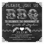 Invitaciones de la pizarra del negro del fiesta de anuncios personalizados