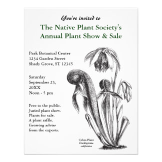 Invitaciones de la planta carnívora invitacion personal