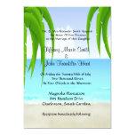 Invitaciones de la playa/del boda del océano invitaciones personales