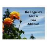 Invitaciones de la postal de la dirección del apel