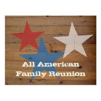Invitaciones de la postal de la reunión de familia