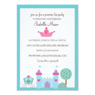 Invitaciones de la princesa fiesta del té invitación 12,7 x 17,8 cm