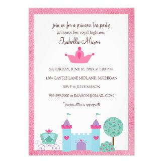 Invitaciones de la princesa fiesta del té