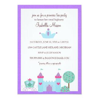 """Invitaciones de la princesa fiesta del té invitación 5"""" x 7"""""""