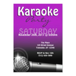 Invitaciones de la púrpura del fiesta del Karaoke Invitación 12,7 X 17,8 Cm