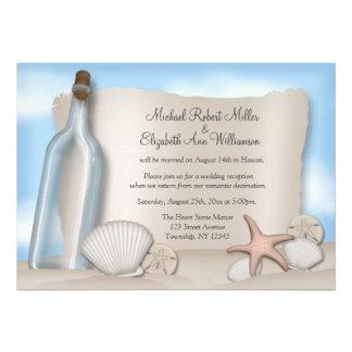 Invitaciones de la recepción de la playa de la bot