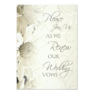 Invitaciones de la renovación del voto de boda de invitación 12,7 x 17,8 cm