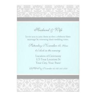 Invitaciones de la renovación del voto de boda del comunicados