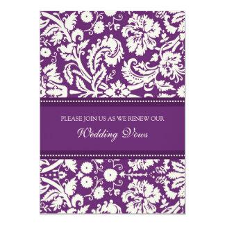 Invitaciones de la renovación del voto de boda del invitación 12,7 x 17,8 cm