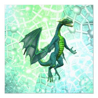 """Invitaciones de la respiración de los dragones invitación 5.25"""" x 5.25"""""""