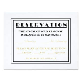 Invitaciones de la respuesta del boleto de la invitación 10,8 x 13,9 cm