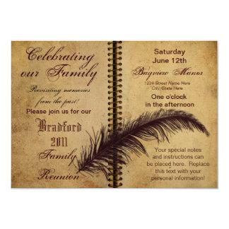 """Invitaciones de la reunión de familia - diseño invitación 5"""" x 7"""""""