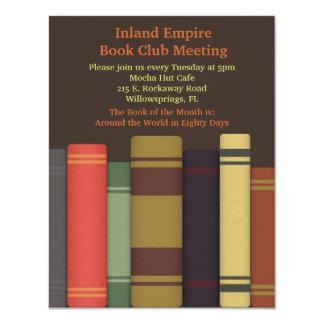 """Invitaciones de la reunión del círculo de lectores invitación 4.25"""" x 5.5"""""""