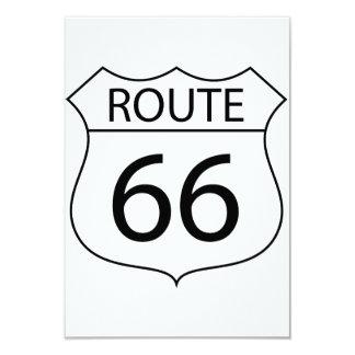"""Invitaciones de la ruta 66 invitación 3.5"""" x 5"""""""