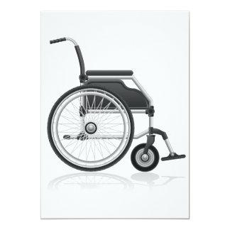 """Invitaciones de la silla de ruedas invitación 5"""" x 7"""""""