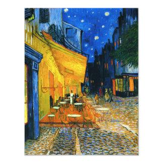 Invitaciones de la terraza de Van Gogh Café Invitación 10,8 X 13,9 Cm