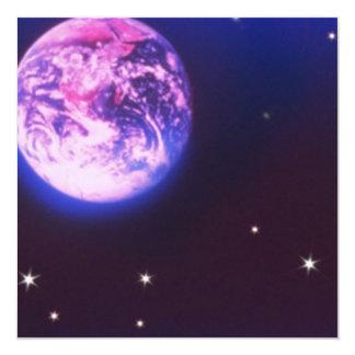 Invitaciones de la tierra del planeta invitación 13,3 cm x 13,3cm