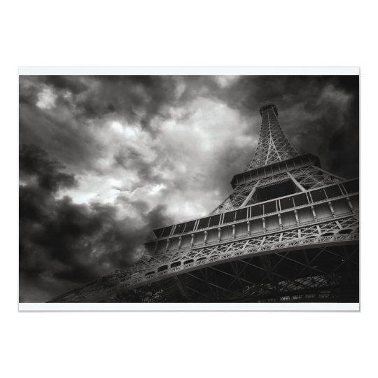 """Invitaciones de la torre Eiffel Invitación 5"""" X 7"""""""