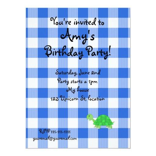 Invitaciones de la tortuga invitaciones personales