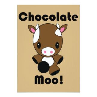 Invitaciones de la vaca del MOO Kawaii del Comunicados Personalizados
