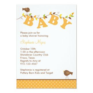 Invitaciones de la vid del bebé de la caída invitación 12,7 x 17,8 cm