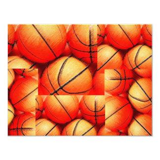Invitaciones de las bolas del baloncesto invitacion personal