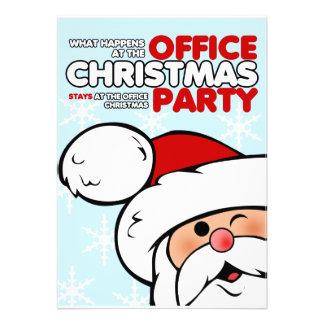 Invitaciones de las fiestas en la oficina del navi invitación personalizada