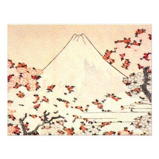 Invitaciones de las flores de cerezo de Hokusai el Invitacion Personal