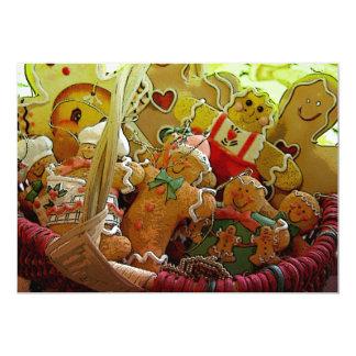 """Invitaciones de las galletas del pan de jengibre invitación 5"""" x 7"""""""