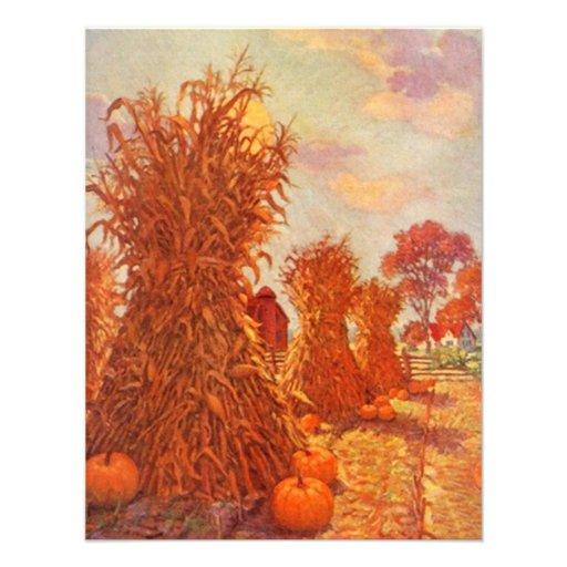 INVITACIONES de las gavillas del maíz de la caída  Invitaciones Personalizada