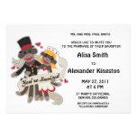 Invitaciones de las invitaciones del boda del MONO Comunicado Personalizado
